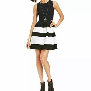 Bar III Black and White Fit and Flare 👗   small